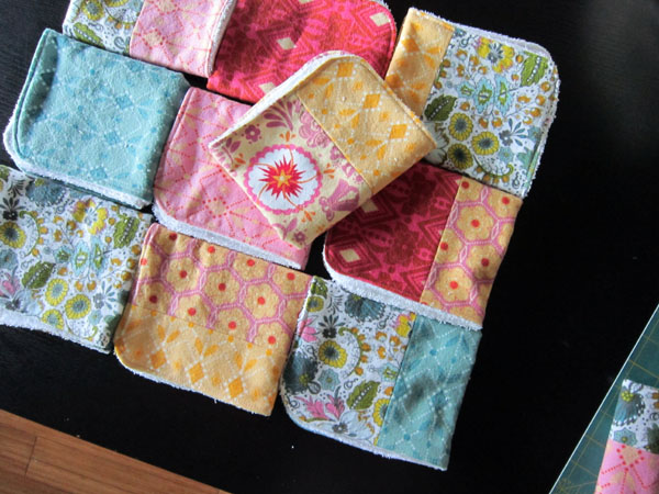 I HEART these burp cloths