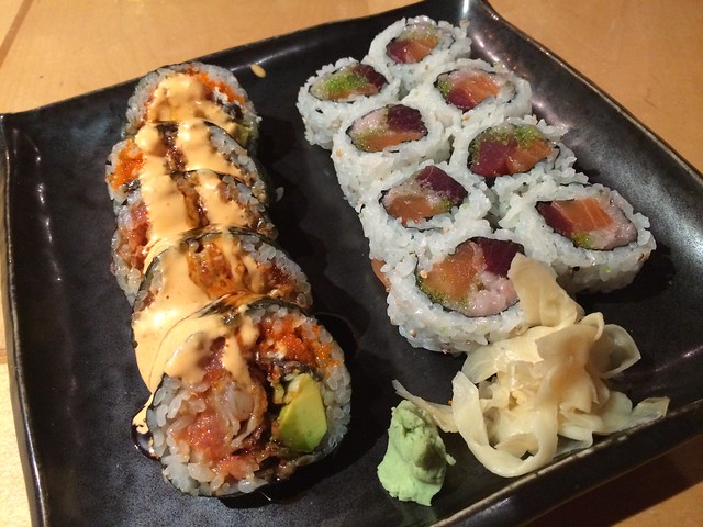 Volcano & Dynamite wasabi rolls - Raku