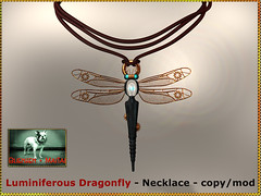 Bliensen - Luminiferous Dragonfly - Necklace