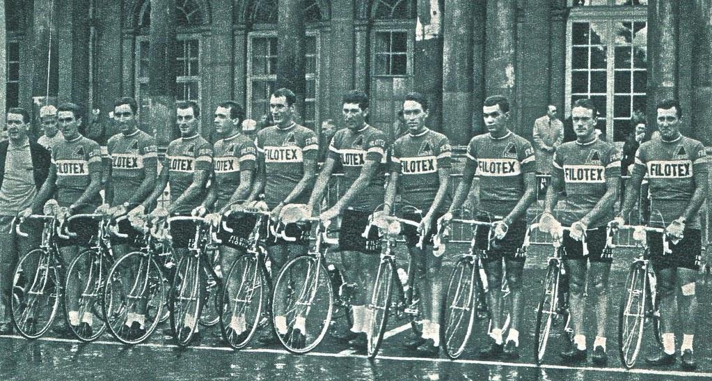 Filotex al Tour '66 - penultimo e terzultimo da sin Picchiotti e Mugnaini