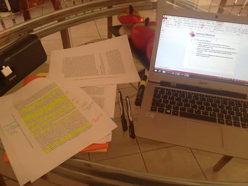 Preparing lectures