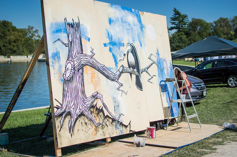 art canvas painting artist st louis world's fare