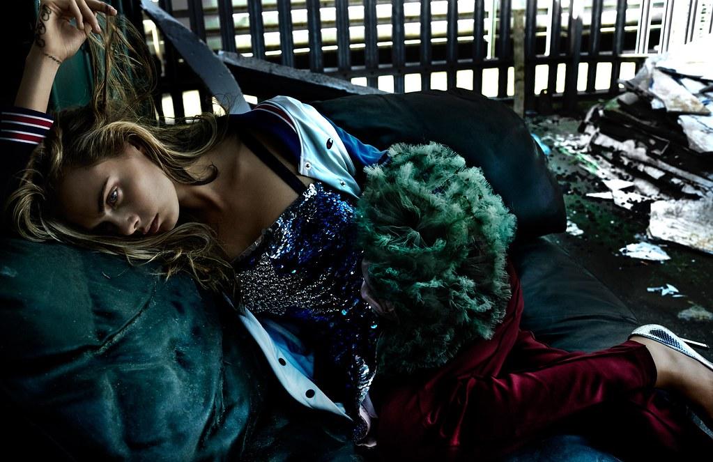 Кара Делевинь — Фотосессия для «Vogue» UK 2016 – 1