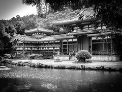 Byodo-In Temple B&W