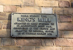 Photo of Rohesia and King's Mill, Canterbury grey plaque