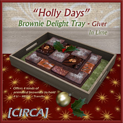 "@ Twisted Krissmuss ~ [CIRCA] - ""Holly Days"" - Brownie Delight Tray - In Lime"