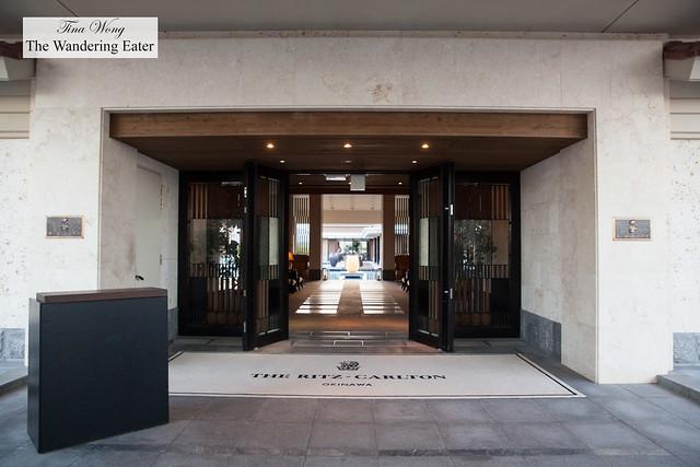 Main entrance to Ritz Carlton Okinawa