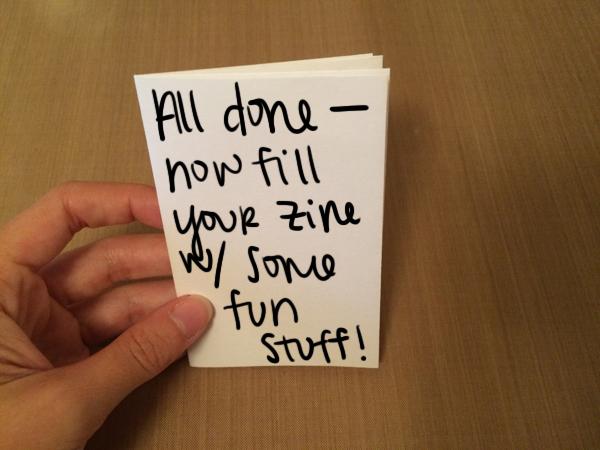 Finished One-Sheet Mini-Zine