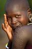 Ethiopian tribes, beautiful Mursi woman