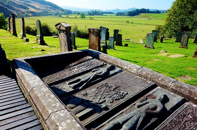 Medieval Carved Stones at Kilmartin Church Burial Ground