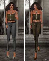DE Designs - Kelly Corset Forest and Old Leather