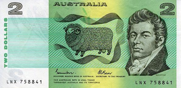2 Doláre Austrália 1974-85, Pick 43