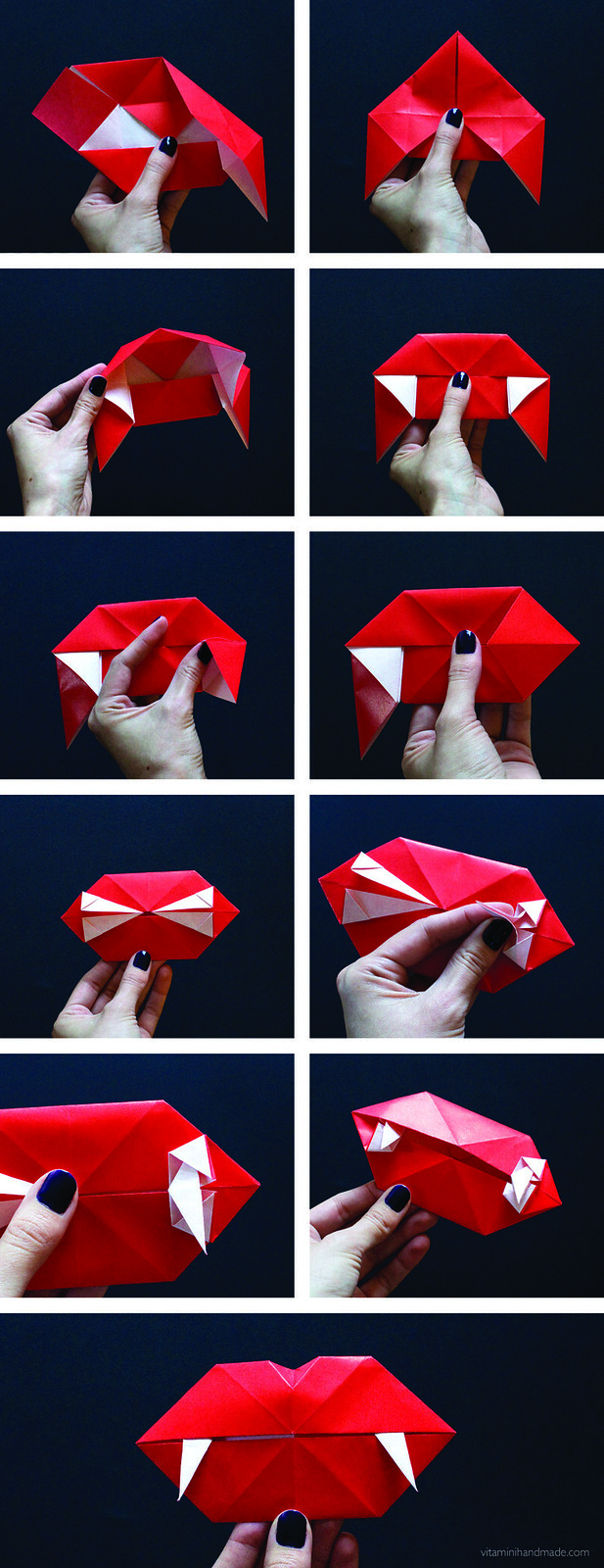 how to make wearable origami vampire fangs i love