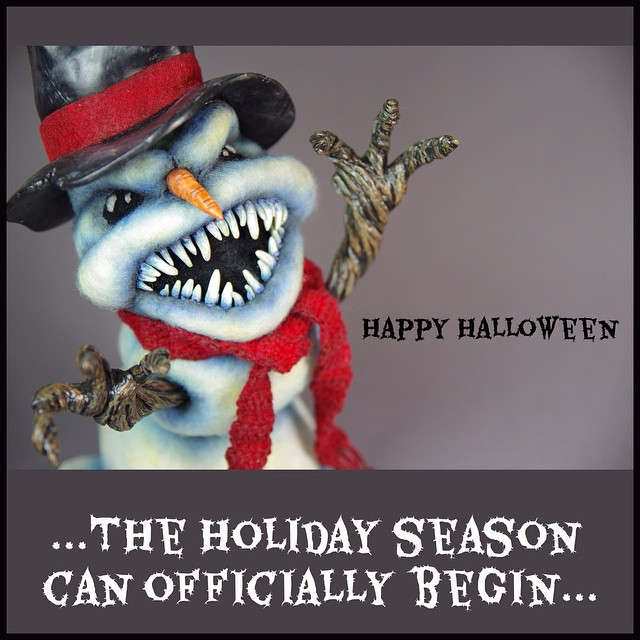 Have a safe & HAPPY HALLOWEEN!! #halloween #needlefelt #sculpture