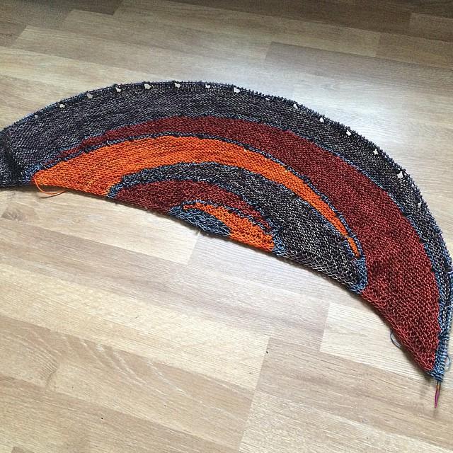 Part 1 is completed #westknitsKAL2014 #knitting #madelinetosh @hedgehogfibres