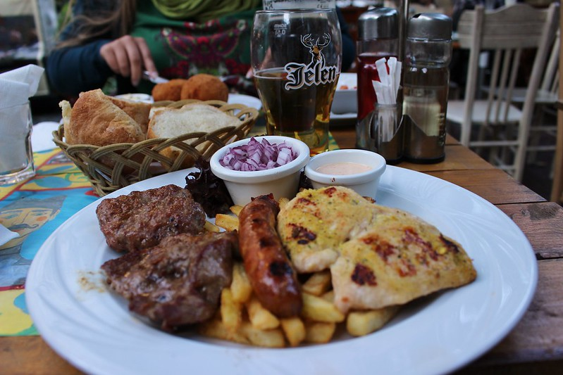 meat and beer