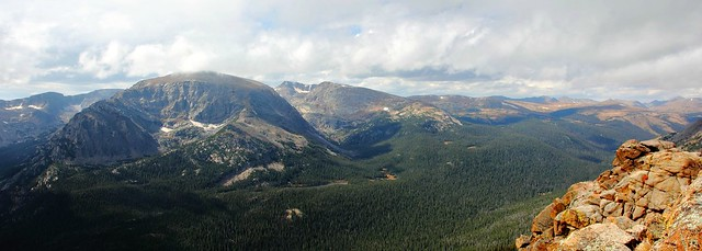 Panorama from Forest Canyon Overlook, Trail Ridge Road