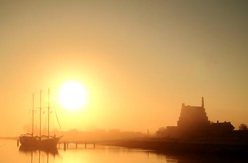 morning weather fog sunrise medemblik weer zonsopkomst