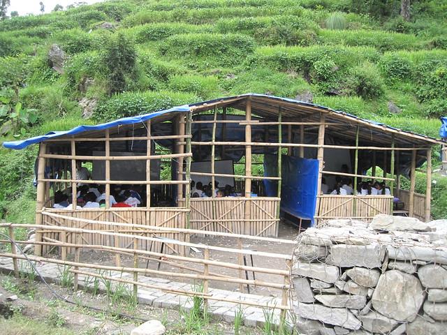 Arniko Highway landslide, replacement school