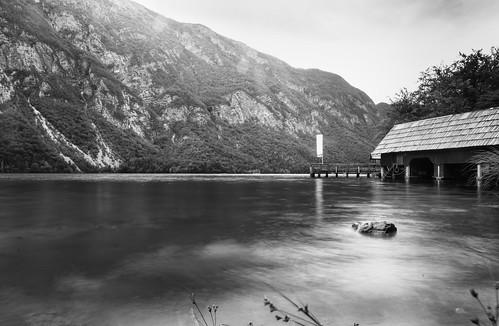 blackandwhite landscape nikon slovenia slovenija bohinj d300 glaciallake bohinjskojezero sigma1020 icecoldwater ukanc guidomusch