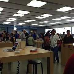At the Apple Store picking up my MacBook from The Genius Bar.