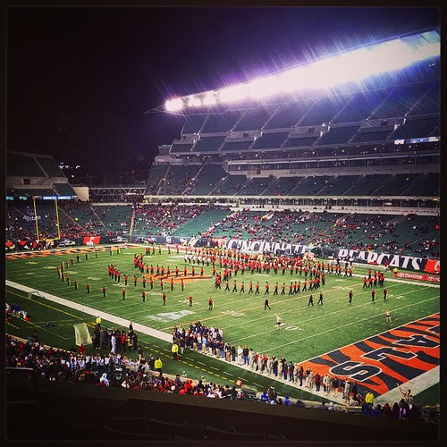 The UC Bearcats Marching Band halftime tribute to Billy Joel...