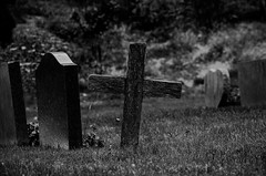 cemetery, symbol, photograph, monochrome photography, cross, grave, monochrome, darkness, black-and-white, black,