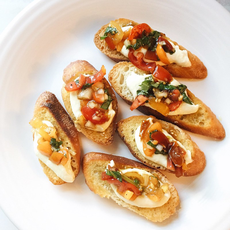 Whipped Feta Bruschetta