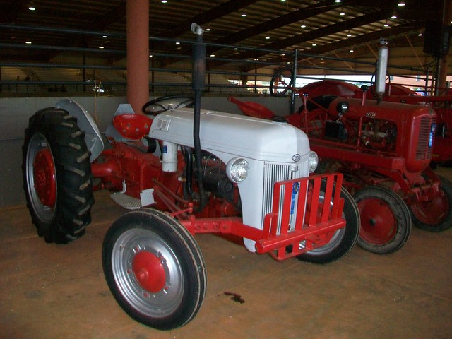 Red & white tractor
