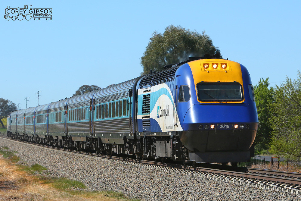 XPT heads out of Junee with the Daylight Sydney to Melbourne service by Corey Gibson