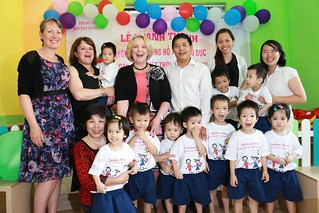 At the Opening ceremony of the Rainbow Kinder