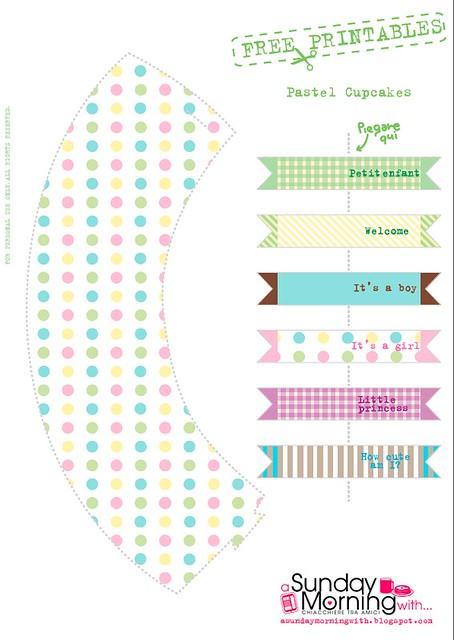 cupcake tutorial free printable