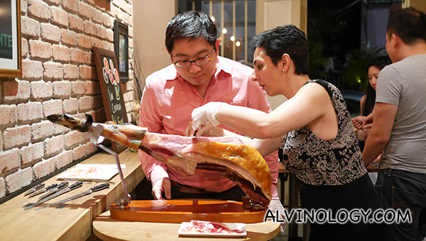 Jamon carving workshop with Chef Savilliano