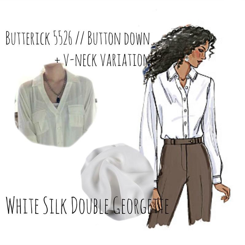 Silk v neck