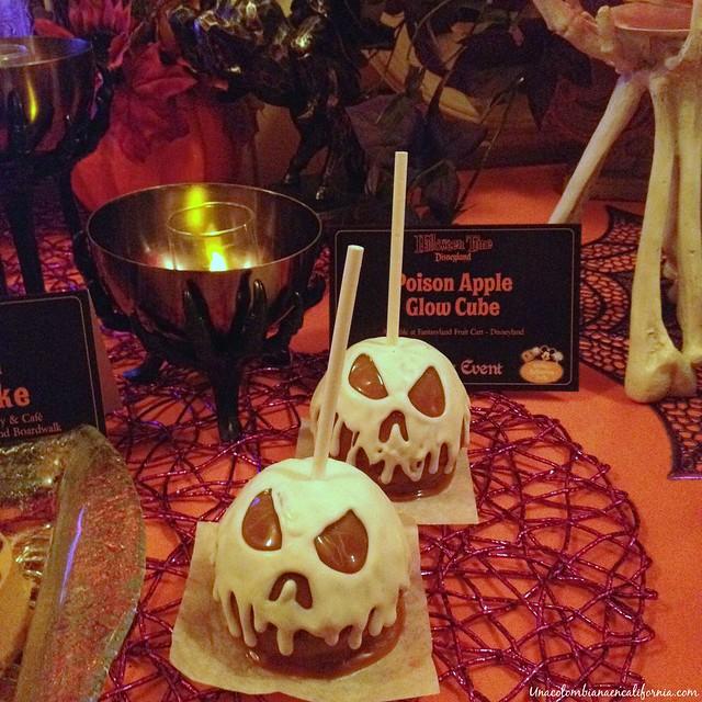 Manzanas de caramelo menú de Halloween Disneyland