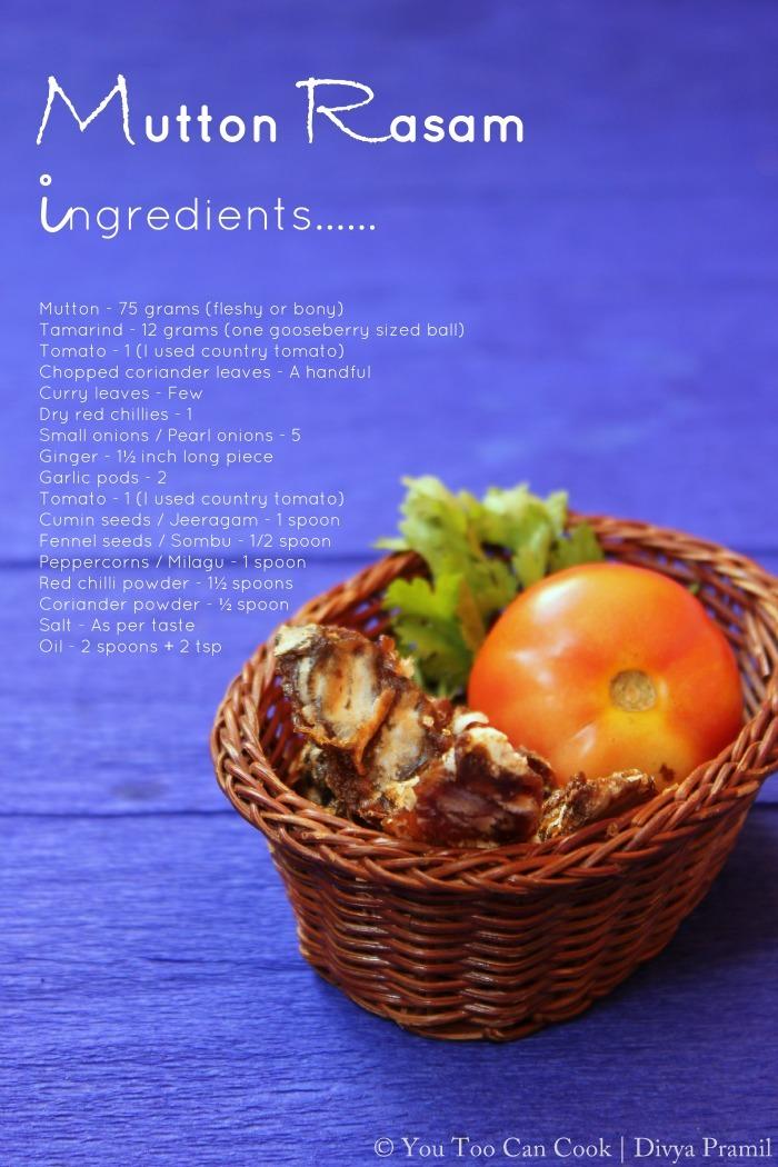 mutton rasam ingredients 2
