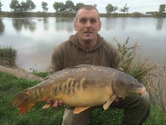 Graham Creevy with a 15lb 4oz mirror carp