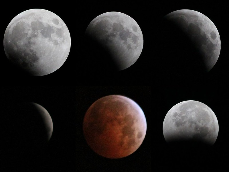 6 Phases of Today's Lunar Eclipse