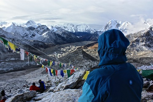 Lina looking out from Kala Patthar
