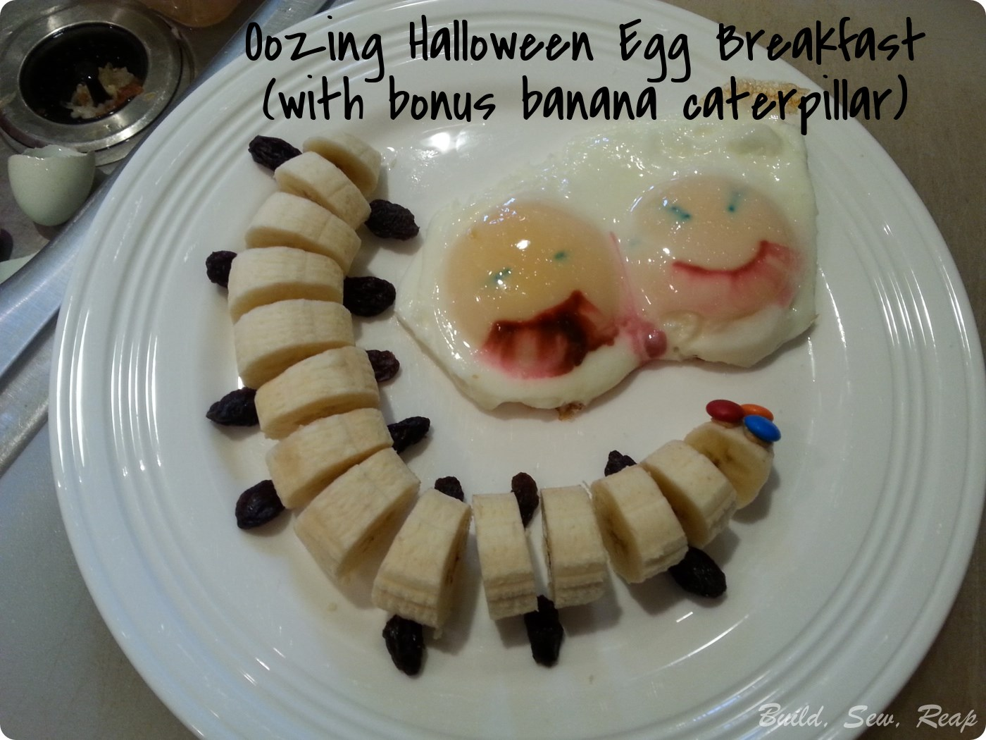 Oozing Halloween Eggs
