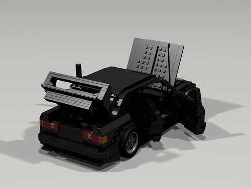 Lego 1990 Mercedes 190E Evo II - All open rear view
