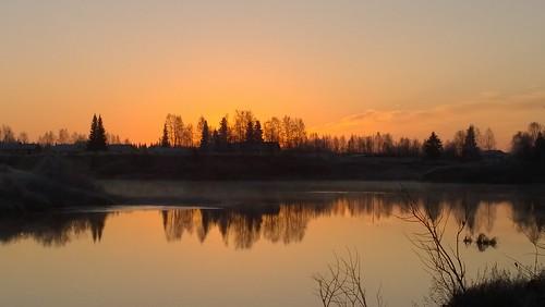 mist cold sunrise finland river kittilä ounasjoki pureview nokialumia1020