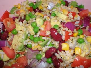 Cousin Natasha's Rice and Bean Salad