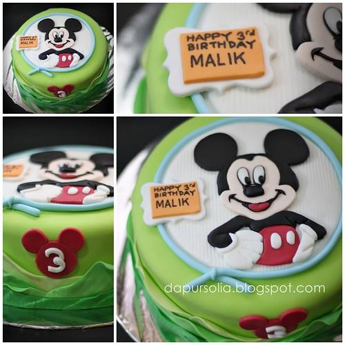 Lemon Cake Mickey Deco for Malik 3 y.o.