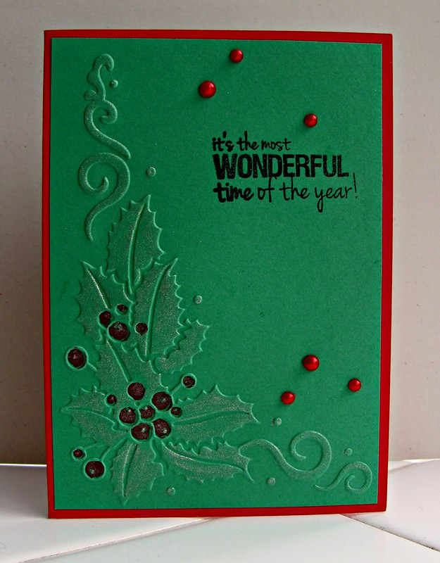 Embossed Holly