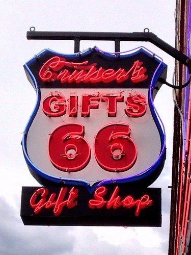 Cruiser's Gifts sign - Route 66, Williams, Arizona