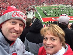 "One of those ""selfie things"" (or ""my wife is dating a college student"") #gobucks"