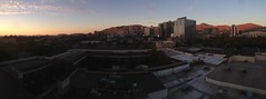 Salt Lake City sunset pano