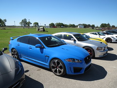 automobile(1.0), automotive exterior(1.0), wheel(1.0), vehicle(1.0), performance car(1.0), automotive design(1.0), sports sedan(1.0), rim(1.0), bumper(1.0), jaguar xf(1.0), sedan(1.0), land vehicle(1.0), luxury vehicle(1.0), supercar(1.0), sports car(1.0),