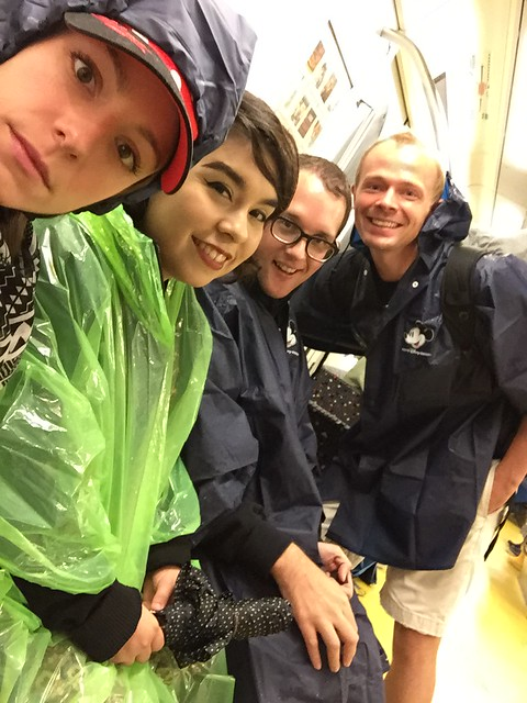Four dumb americans going to DisneySea during a typhoon